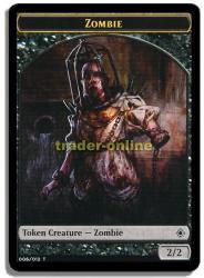 Zombie Token - Zombie Spielstein Khans of Tarkir Magic
