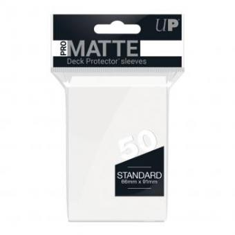 Ultra Pro Kartenhüllen - Standardgröße Pro-Matte (50) - Weiß