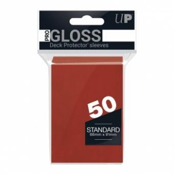 Ultra Pro Kartenhüllen - Standardgröße Gloss (50) - Rot