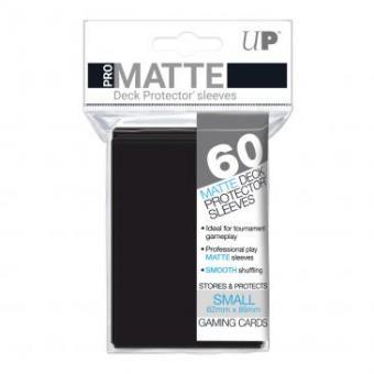 Ultra Pro Kartenhüllen - Japanische Größe reflexionsfrei (60) - Schwarz