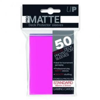 Ultra Pro Kartenhüllen - Standardgröße reflexionsfrei (50) - Neonpink