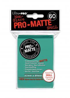 Ultra Pro Kartenhüllen - Japanische Größe reflexionsfrei (60) - Aqua (Pro-Matte)