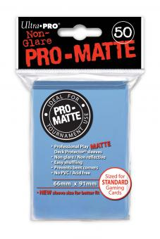 Ultra Pro Kartenhüllen - Standardgröße reflexionsfrei (50) - Hellblau (Pro-Matte)