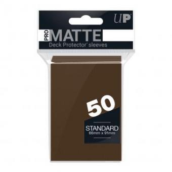 Ultra Pro Kartenhüllen - Standardgröße Pro-Matte (50) - Braun