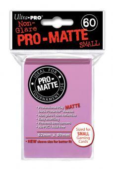 Ultra Pro Kartenhüllen - Japanische Größe reflexionsfrei (60) - Pink (Pro-Matte)