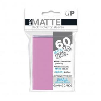 Ultra Pro Kartenhüllen - Japanische Größe reflexionsfrei (60) - Pink