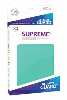Ultimate Guard Supreme UX Card Sleeves - Standard Size (80) - Turquoise