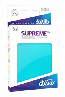 Ultimate Guard Supreme UX Card Sleeves - Standard Size (80) - Aquamarine