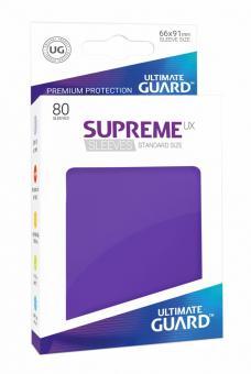 Ultimate Guard Supreme UX Kartenhüllen - Standardgröße (80) - Violett