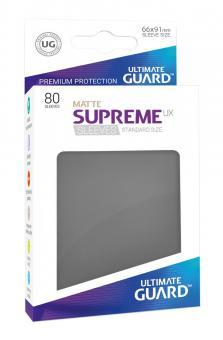 Ultimate Guard Supreme UX Kartenhüllen - Standardgröße reflexionsfrei (80) - Dunkelgrau (Matte)