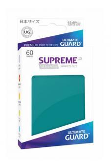 Ultimate Guard Supreme UX Kartenhüllen - Japanische Größe (60) - Petrol