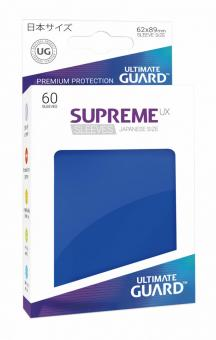 Ultimate Guard Supreme UX Kartenhüllen - Japanische Größe (60) - Blau