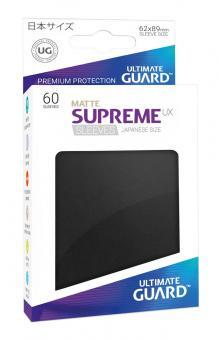 Ultimate Guard Supreme UX Kartenhüllen - Japanische Größe reflexionsfrei (60) - Schwarz (Matte)