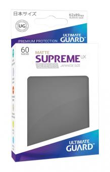 Ultimate Guard Supreme UX Kartenhüllen - Japanische Größe reflexionsfrei (60) - Dunkelgrau (Matte)