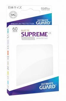 Ultimate Guard Supreme UX Kartenhüllen - Japanische Größe reflexionsfrei (60) - Weiß (Matte)
