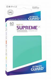 Ultimate Guard Supreme UX Kartenhüllen - Japanische Größe reflexionsfrei (60) - Türkis (Matte)