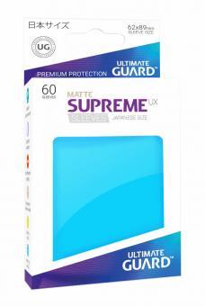 Ultimate Guard Supreme UX Kartenhüllen - Japanische Größe reflexionsfrei (60) - Hellblau (Matt)