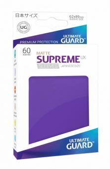 Ultimate Guard Supreme UX Kartenhüllen - Japanische Größe reflexionsfrei (60) - Violett (Matte)