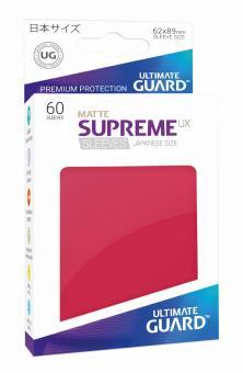 Ultimate Guard Supreme UX Kartenhüllen - Japanische Größe reflexionsfrei (60) - Rot (Matte)