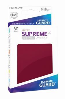 Ultimate Guard Supreme UX Kartenhüllen - Japanische Größe reflexionsfrei (60) - Bordeaux (Matte)