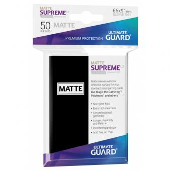 Ultimate Guard Supreme UX Kartenhüllen - Standardgröße reflexionsfrei (50) - Schwarz (Matt)