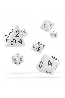 Oakie Doakie Dice - RPG Würfel-Set Solid - Weiß (7)