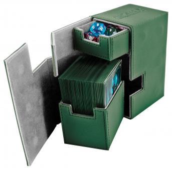 Ultimate Guard Box - Flip'n'Tray 80+ - XenoSkin Grün