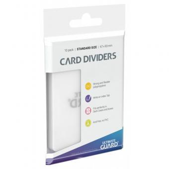 Ultimate Guard Kartentrenner (10) - Transparent