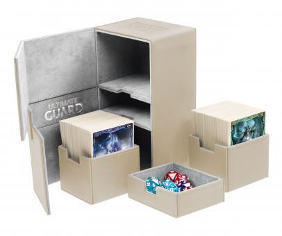 Ultimate Guard Box - Twin Flip'n'Tray 200+ - XenoSkin Sand