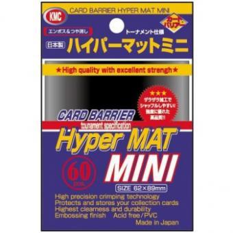 KMC Kartenhüllen - Japanische Größe reflexionsfrei (60) - Hyper Mat Schwarz