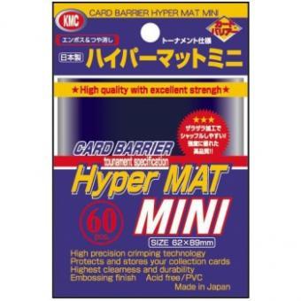 KMC Kartenhüllen - Japanische Größe reflexionsfrei (60) - Hyper Mat Blau