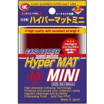 KMC Kartenhüllen - Japanische Größe reflexionsfrei (60) - Hyper Mat Rot