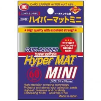 KMC Kartenhüllen - Japanische Größe reflexionsfrei (60) - Hyper Mat Grün