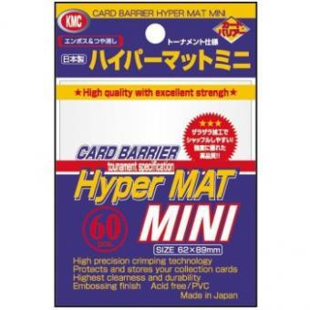 KMC Kartenhüllen - Japanische Größe reflexionsfrei (60) - Hyper Mat Weiß