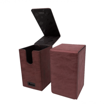 Ultra Pro Alcove Tower Deckbox - Suede Collection - Rubin