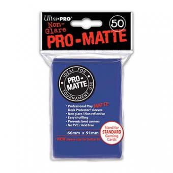 Ultra Pro Kartenhüllen - Standardgröße reflexionsfrei (50) - Blau (Pro-Matte)