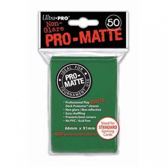 Ultra Pro Kartenhüllen - Standardgröße reflexionsfrei (50) - Grün (Pro-Matte)