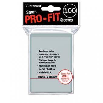 Ultra Pro Kartenhüllen - Japanische Größe (100) - Pro-Fit - Transparent