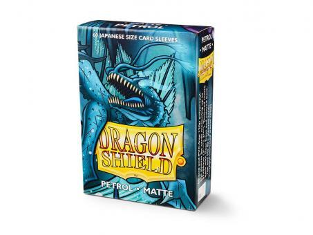 Dragon Shield Kartenhüllen - Japanische Größe matt (60) - Petrol