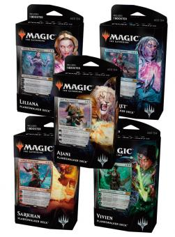 Core Set 2019 Planeswalker-Deck-Set (5 Decks) englisch