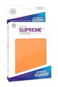 Ultimate Guard Supreme UX Kartenhüllen - Standardgröße reflexionsfrei (80) - Orange (Matte)