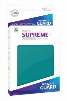 Ultimate Guard Supreme UX Kartenhüllen - Standardgröße reflexionsfrei (80) - Petrol (Matte)