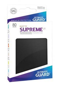 Ultimate Guard Supreme UX Kartenhüllen - Standardgröße reflexionsfrei (80) - Schwarz (Matte)