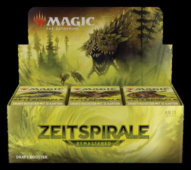 Zeitspirale Remastered Draft Booster-Display Box deutsch