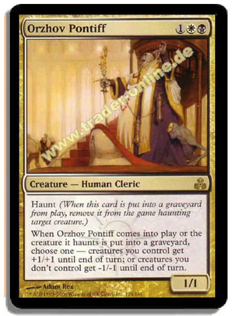 Orzhov Pontiff Trader Online De Magic Yu Gi Oh Trading Card Online Shop For Card Singles Boosters And Supplies Haunt (when this creature dies, exile it haunting target creature.) orzhov pontiff