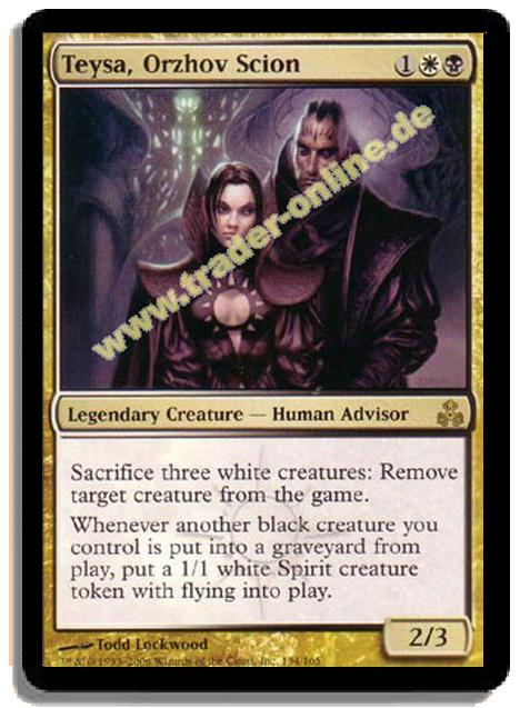 Teysa Orzhov Scion Trader Online De Magic Yu Gi Oh Trading Card Online Shop For Card Singles Boosters And Supplies Most frequent cards in decks where teysa, orzhov scion is the general teysa orzhov scion