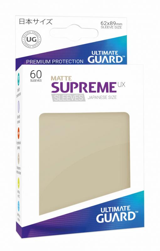 Matte SAND Ultimate Guard SUPREME UX Japanese Size Card Sleeves 60