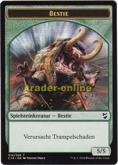 Spielstein - Bestie (Trampelschaden, 5/5) | Trader-Online de - Magic &  Yu-Gi-Oh! Trading Card Online Shop for Card Singles, Boosters, and Supplies
