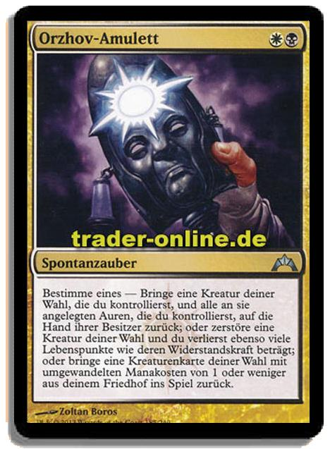 Orzhov Amulett Trader Online De Magic Yu Gi Oh Trading Card Online Shop For Card Singles Boosters And Supplies When orzhov basilica comes into play, return a land you control to its owner's hand. orzhov amulett