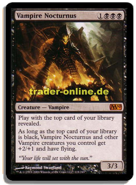 vampire nocturnus traderonlinede magic amp yugioh